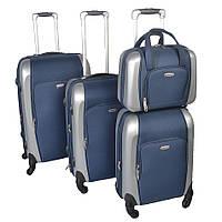 Комплект  валіз на колесах  KAIMAN 4 в 1 синій