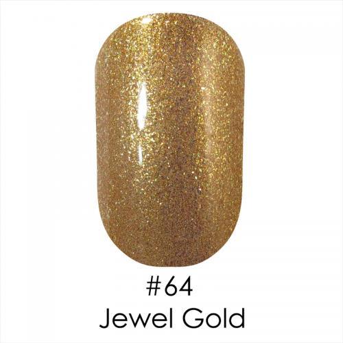 Гель лак для ногтей Naomi №064 золото с шиммером, 6 мл