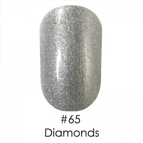 Гель лак для ногтей Naomi №065 , серебро с шиммером, 6 мл