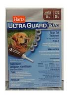 Hartz (Харц) UltraGuard Plus 4в1 Капли от блох, блошиных яиц, клещей и комаров для собак от 28кг, 1пипетка