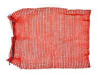 Сетка-мешок для упаковки лука с завязкой, красная, 45х75 см, до 30 кг