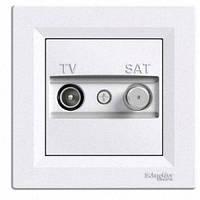 Розетка телевизионная + спутник конечная Schneider Electric Asfora Белый