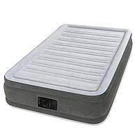 Надувная односпальная кровать INTEX 67766  99-191-33 см + встроенный электронасос 220W