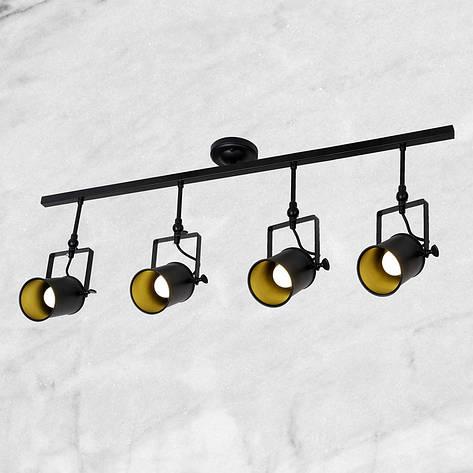 Люстра-прожектор в стиле лофт (61-SD04-4 BK), фото 2