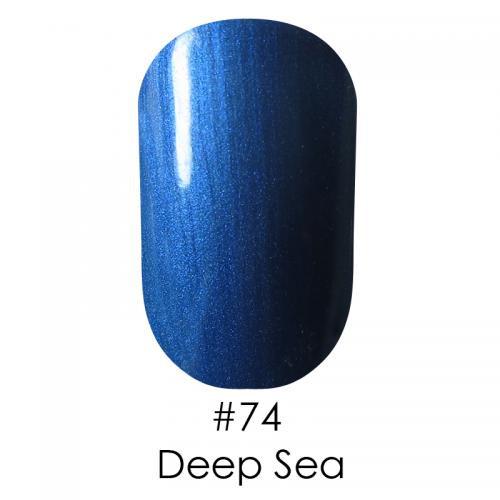 Гель лак для ногтей Naomi №074 свело-синий с перламутром, 6 мл