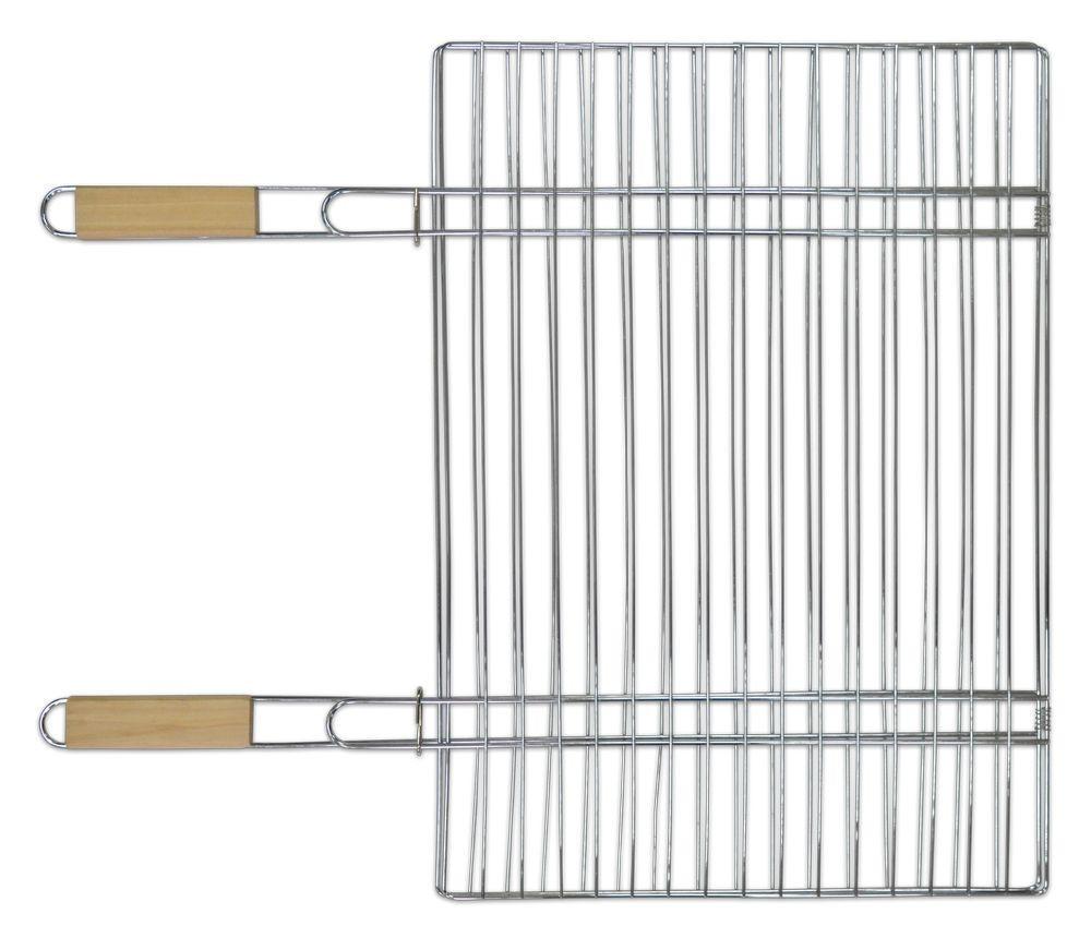 Решетка-гриль для мяса 40х57 см, с двумя ручками дерево, 67 см  - Б2ТРАСТ в Днепре