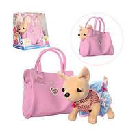 Собачка в сумочці Кіккі M 3219 Рожева Фантазія