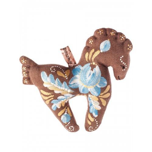 Игрушка ручной работы Лошадка, текстиль, ручная роспись