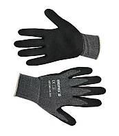 Перчатки, тонкое двойное плетение, мягкий вспененный латекс, L-XL