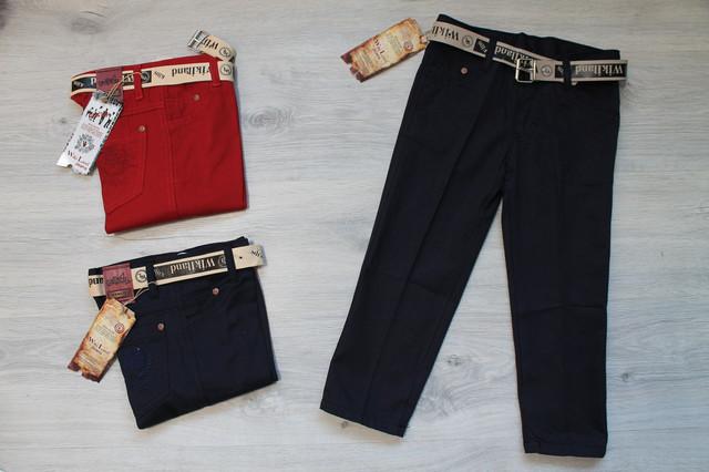джинсовые брюки с ремешком для мальчика style-baby.com