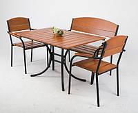 Комплект мебели ЭКОНОМ ПЛЮС 1200*800 для кафе, бара, ресторана, летней площадки, сада, дачи
