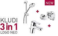 Акционный набор смесителей Kludi Logo Neo для ванны