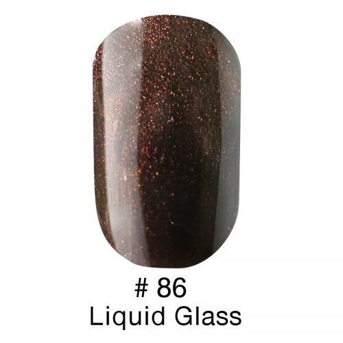 Гель лак для ногтей Naomi №086  шоколадный, с микроблеском 6 мл