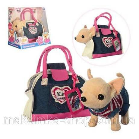 Собачка в сумочці Кіккі M 3218 Джинсовий Стиль