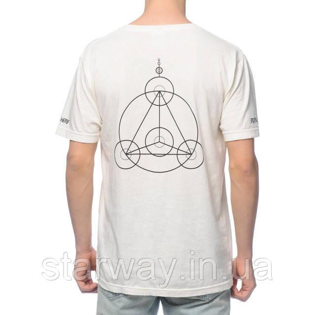 Белая футболка | RipNDip crop circles logo |