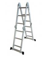Лестница алюминиевая трансформер, 4 (ступен.) х 4 (секц.)