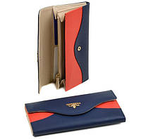 Кошелек женский кожаный Bretton WF-20 blue-orange, фото 1