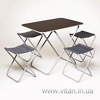 Комплект стол и стулья Vitan «Пикник» (алюминий), фото 1