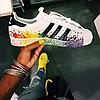 Мужские кроссовки Adidas Superstar Supercolor (Адидас Суперстар) белые, фото 3