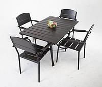 """Комплект мебели для кафе Микс-Лайн """"Фелиция"""" Тик(рыжий) цвет заказчика, черный"""