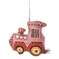 Игрушка ручной работы детям Паравозик, ручная роспись, авторская работа