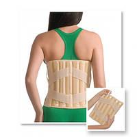 Корсет лечебно-профилактический эластичный  3011 (с 4 ребрами жесткости) (Med textile)