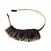 Обруч для волос Романтика металл-ширина 0,7 см * Ø 12,0 см.