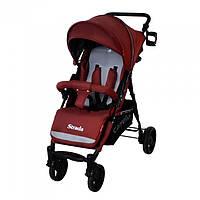Коляска прогулочная CARRELLO Strada CRL-7305 Dark Red (резиновые колеса)
