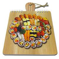 Блокнот для рецептов на жесткой основе CookNotes «Суши»