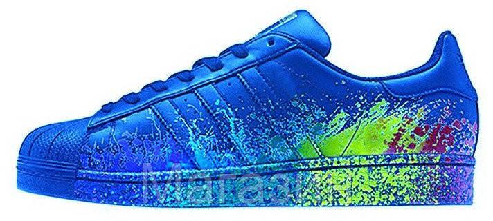 Мужские кроссовки Adidas Originals Superstar Pride Pack Blue (Адидас Суперстар) синие, фото 2