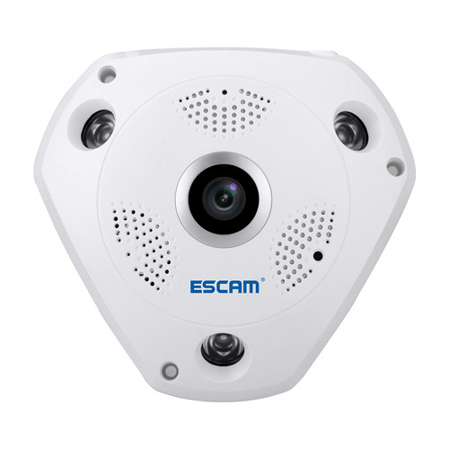 Панорамна IP-камера 1,3 Мп Escam Shark QP180 камера з ІЧ-підсвічуванням