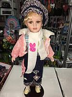 Кукла фарфоровая высота 35 см
