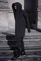 Мантия мужская/женская с капюшоном черная