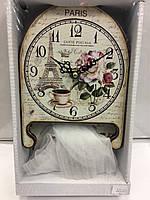 Часы в стиле прованс деревянные розы