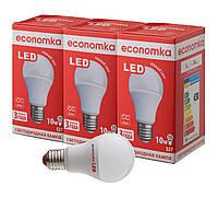 Светодиодные лампы Economka LED 10W СУПЕРПАК 3шт 2800К
