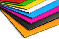Листовой цветной полистирол (гибкий пластик) Производство EU 3000 х 1250, 3 мм, черно-белый