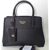 Брендовая женская сумочка Prada черная большая
