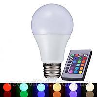 LED лампа E27 RGB 5W с пультом LM734