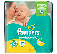 Подгузники Pampers New Baby-Dry Размер 2 (Mini) 3-6 кг, 27 шт