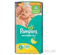 Подгузники Pampers New Baby-Dry Размер 2 (Mini) 3-6 кг, 68 шт