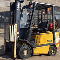 Вилочный погрузчик б/у YALE GLP20AF, с Весами! 2 тонны, 2000 года, вагонник, на газу, всего 1729 моточаса!
