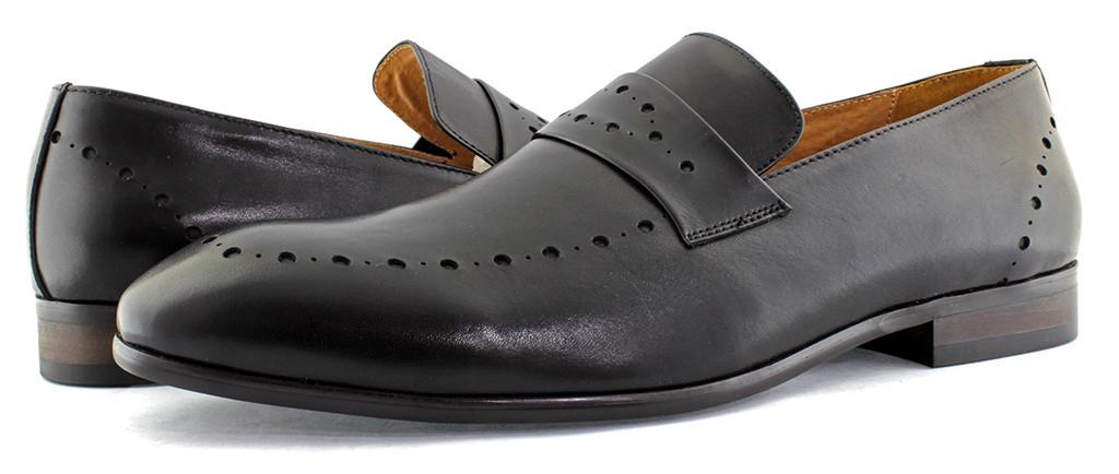 Мужские весенние туфли Ample, перфорированные. Натуральная кожа.