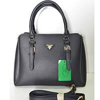 Брендовая женская сумочка Prada черная средняя