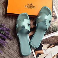 Женская обувь кожа Брендовые шлепки Hermes летняя обувь