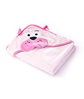 Полотенце Sensillo с 3D вышивкой и капюшоном 100х100 - pink