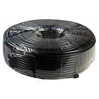 Коаксиальный кабель LUX RG 2 х 0,75 (1, 02 СUAL + 80х0, 12CUAL) + 2x0, 75ммCUAL, черный