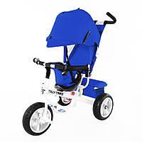 Хит! Трехколесный велосипед Tilly Trike Ultra T-371, бескамерные шины, Blue