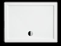 Душевой прямоугольный акриловый поддон ALPINA 120х80х5,5 BESCO PMD PIRAMIDA ультратонкий Поддон с сифоном
