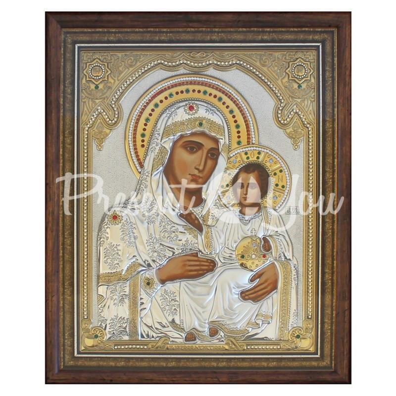 Иерусалимская икона Божией Матери Silver Axion, 40,2х32,5 см