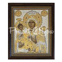 Икона серебряная Божией Матери «Троеручица» Silver Axion, 37х30,2 см